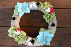 Advent Wreath/ Beach Christmas Centerpiece by KKeithDesigns on Etsy https://www.etsy.com/listing/257028000/advent-wreath-beach-christmas