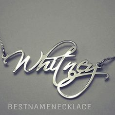 Monogram Style Free Hand Name Necklace, with a dainty and beautiful font, makes a beautiful gift! Personalized with any name up to 10 letters, high polished with a beautiful shine.