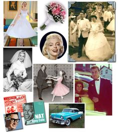 A 1950's Theme Wedding. The 1950's were post-war boom time. The nation was prosperous and marriage rates were high. TV was in each home, and the hi-fi was spinning rock and roll music. A preoccupation with the space age reflected American optimism.