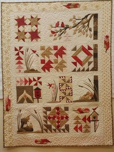 Bird Walk by Material Girlfriends - block of the Month, Marcus Fabrics 2016