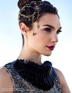 Gal Gadot - this would look gothic or emo on someone else. On a Dark Winter it's rich, deep and vibrant. Completely at home on Gal.