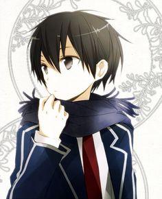 Kazuto Kirigaya (Kirito) by Tsukimori Usako Arte Online, Kunst Online, Online Art, Kirito Kirigaya, Kirito Asuna, Yandere Manga, Sword Art Online Kirito, Accel World, Manga Cute