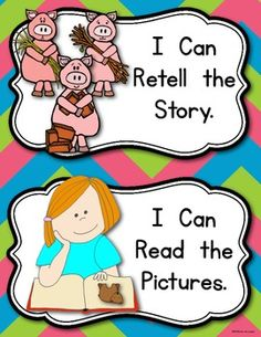 Three ways to read a book anchor chart! print or build with students! Reading Workshop for Kindergarten! $