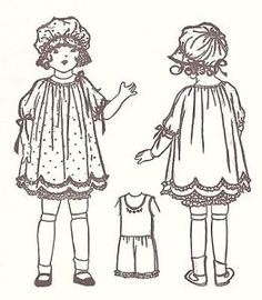 antique dolls clothes patterns - Google Search