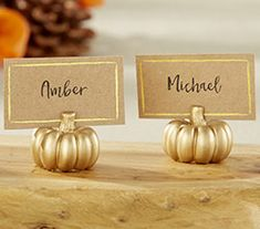 Gold Pumpkin Place Card Holder Set of 6 Seasonal Rustic Fall Wedding Placecards Table Numbers Thanksgiving Reception Bridal Shower Decor Fall Wedding Decorations, Wedding Themes, Wedding Colors, Wedding Ideas For Fall, Autumn Wedding Ideas October, Pumpkin Wedding Centerpieces, Fall Wedding Inspiration, Indoor Fall Wedding, Wedding Pumpkins