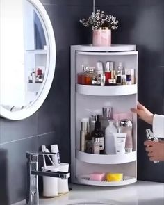Regal Bad, Triangle Shelf, Diy Casa, Home Gadgets, Kitchen Gadgets, Cooking Gadgets, Cooking Tools, Bedroom Gadgets, Kitchen Tools