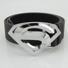 Classic New Silver Superman Superhero Western Mens Metal Belt Buckle Leather  - See this Page for lot's of other Belt Buckles |  Also check on Amazon - and at Department Stores and Comic Book Stores - Just showing the Pic's as to what's out there.