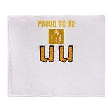 Unitarian Universalist 3 Merchandise Throw Blanket