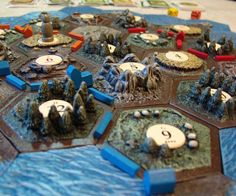 3D Settlers Of Catan Tiles  Experience one of your favorite board games like…