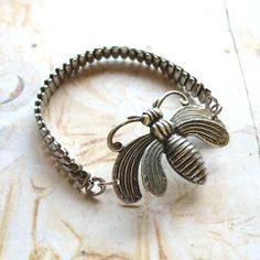 Watch bracelet with pin by ComeDayGoDay on Etsy