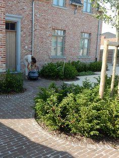 Dutch Gardens, Belgian Style, Brick Patios, Outside Living, Facade, Sweet Home, Home And Garden, Backyard, Landscape