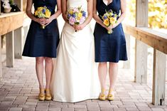 Eclectic Chic Navy, Pink, and Yellow Wedding (navy = nautical, pink (blush), and the yellow)