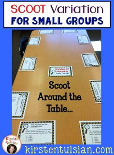 Do you work with small groups of students? Do your students love to use task cards in your classroom? This teacher friendly approach incorporates task cards using a table for a game of Scoot and is a great approach for smaller groups of students. Classroom Activities, Classroom Organization, Classroom Management, Classroom Ideas, Snoopy Classroom, Behaviour Management, Group Activities, Future Classroom, Reading Centers