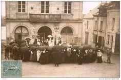 chouzé sur loire - 3 cartes photos - Le Mardi Gras 1905 - belle animation