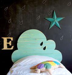 Cloud handmade headboard. #kids #room #bedroom
