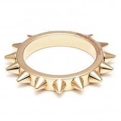 All-over spiked ring
