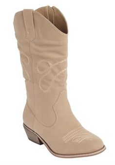 Wide Width Parker Wide Calf Boot by Comfortview® | Wide Calf Boots from Woman Within