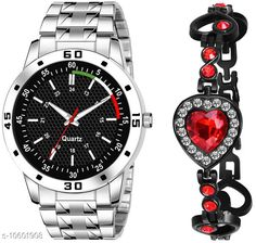 Watches K23 & J19 Pack of 2 Attractive Unique Dial With Unique And Exclusive New Analog Watches For Men & Women Bracelet Strap Material: Stainless Steel Display Type: Analogue Size: Free Size Multipack: 2 Country of Origin: India Sizes Available: Free Size   Catalog Rating: ★4.3 (305)  Catalog Name: Classy Men Watches CatalogID_1941497 C65-SC1232 Code: 082-10601908-606