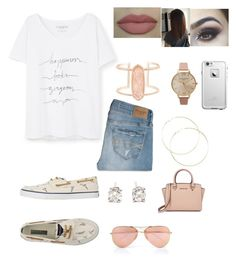 """""""⛵️"""" by bianca-ledgerwood on Polyvore featuring Tiffany & Co., Sperry, Violeta by Mango, Abercrombie & Fitch, Kendra Scott, Olivia Burton, LifeProof, Michael Kors and Ray-Ban"""