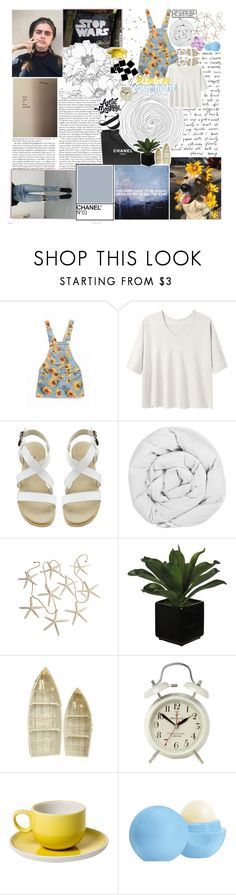 """""""☾ you'll never feel like you're alone"""" by thundxrstorms ❤ liked on Polyvore featuring GET LOST, Chanel, Alexander Yamaguchi, The Fine Bedding Company, Newgate, MANGO, Eos, snowinseptember5years and nicolewantstoseethis"""