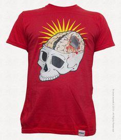 Tshirt Unisex Skull Chip di sweetbtshirt su Etsy, €20.00