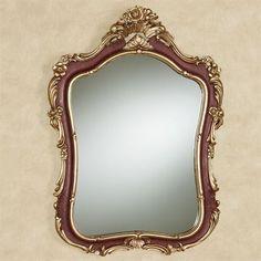Langston Burgundy Wall Mirror Burgundy Walls, Burgundy And Gold, Gold Rooms, Gold Walls, Wedding Mirror, Gold Wall Decor, English Cottage Style, Ornate Mirror, Mirror Mirror