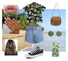"""""""Outfit #15"""" by shygunkid ❤ liked on Polyvore featuring Converse, Tory Burch, The Row and Casetify"""