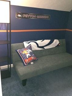 Would love someone to say go to your room bronco for Denver broncos bedroom ideas