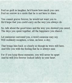 """""""Feel No Guilt In Laughter"""" #Funeral #Poem #GriefandLoss #Poetry - Great Lakes Caskets LLC - Google+"""