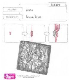 Stepout für Zentangle Muster Woody von Ludmila Blum  Woody tangle pattern