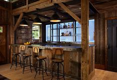 Kelly & Co. Home Saloon Design Photo © kelly & co design | Kellyandcodesign.com http://www.houzz.com/photos/7861645/Barn-and-Entertainment-Music-Performance-Space-farmhouse-home-bar-new-york