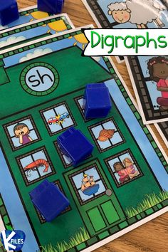 "These digraph bingo boards for /sh/ help your students review words that begin and end in the sh digraph. This game was created to compliment Gumball Phonics™ (a color-coded phonics approach) that can be used with any phonics or spelling program. Also designed to help young readers understand that words belong in a family, or a house of common phonemes. This concept is similar to rhyming word family houses. Gumball Phonics™ focuses on grouping words in ""phoneme families"". Word Work Games, Read To Someone, Phonics Rules, Read To Self, Family Houses, Bingo Board, Spelling Patterns, Work On Writing, First Grade Activities"