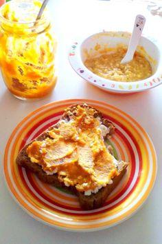 Panquecas de batata doce com doce de abóbora e dióspiro (dos 9 meses aos 90 anos…ou mais)