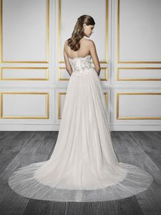 Moonlight Tango T732 chic comfortable soft tulle and lace wedding dress with…