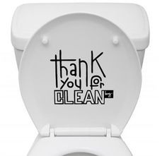 Thank You For Cleaning Reminder - Sisustustarrat Bathroom Stickers, Wall Stickers, Clean House Quotes, Cleaning Quotes, Toilet Cleaning, Paris Photos, Green Cleaning, Sign Printing, Diy Cleaning Products