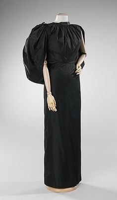 Evening dress Designer: Madame Grès (Alix Barton) (French, Paris 1903–1993 Var region) Date: spring/summer 1974 Culture: French Medium: silk Dimensions: Length at CB (a): 16 in. (40.6 cm) Length at CB (b): 44 in. (111.8 cm) Credit Line: Brooklyn Museum Costume Collection at The Metropolitan Museum of Art, Gift of the Brooklyn Museum, 2009; Gift of Mrs. William Randolph Hearst, Jr., 1988