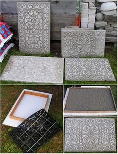 The 11 Best DIY Garden Stepping Stones Give a personalized look to your garden by creating beautiful walkways with stepping stones. We've hooked you up with The 11 Best DIY Garden Stepping Stones. Concrete Stepping Stones, Garden Stepping Stones, Concrete Steps, Concrete Crafts, Concrete Art, Concrete Garden, Concrete Planters, Cement Patio, Concrete Molds