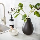 Made of ceramic earthenware with a smooth finish, our Black Vases come in a range of shapes and sizes. Collect a few for countless arrangement possibilities on mantels, ledges and tabletops. Porcelain Vase, Ceramic Vase, Earthenware, Stoneware, Colored Glass Vases, Black Vase, Small Furniture, Modern Furniture, Room Planning