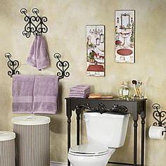 3 Piece Scroll Bath Set