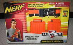 New Nerf N Strike Bandolier Kit Ammo Storage Strap 2 Clips 24 Clip System Darts   eBay