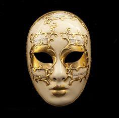 MASQUE VENITIEN AUTHENTIQUE FAIT MAIN CARNAVAL VENISE -Masque de Venise Volto