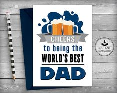 Items Similar To Fathers Day Card