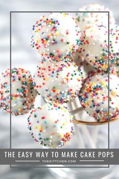 To Make Cake Pops - This recipe shows the easiest way to make this fun dessert! Easy Cake Ball Recipe, Cake Ball Recipes, Dessert Cake Recipes, Fun Desserts, Easiest Cake Pop Recipe, Health Desserts, Chocolate Desserts, Dessert Ideas, Cake Pop Boxes