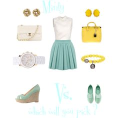 minty fresh, created by inbalsr on Polyvore