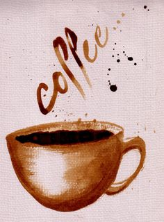 """beautifulcoffeesets: """" Coffee by ~CharlieRenwick Coffee on watercolour paper! """""""