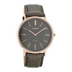OOZOO Vintage horloge Grijs C7322 (40 mm)