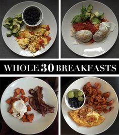 Whole 30 Breakfast Ideas, Paleo Breakfast, Week of Whole30 Breakfasts