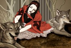Little Red Riding Hood by Amy-Lynn-Lee Little Red Ridding Hood, Red Riding Hood, Illustrations, Illustration Art, Charles Perrault, She Wolf, Big Bad Wolf, Wolf Howling, Red Hood