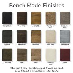 Bassett Furniture - Bench Made Finishes.