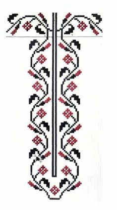 tipare de ie nationala - Поиск в Google Needlepoint Patterns, Sewing Patterns, Hand Embroidery, Poppies, Diy And Crafts, Cross Stitch, Traditional, Crochet, Artwork
